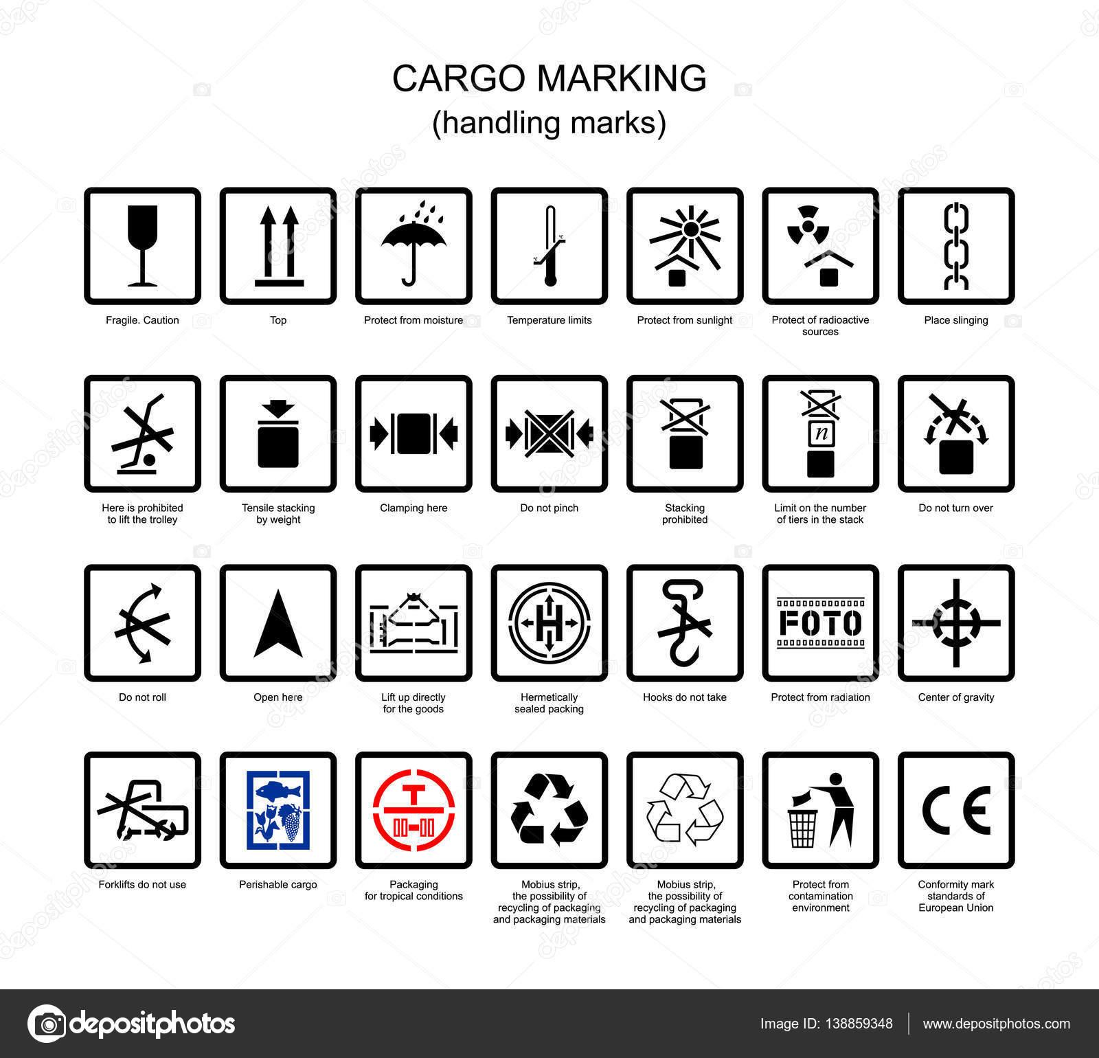 Simbolos Para Marcacao De Carga