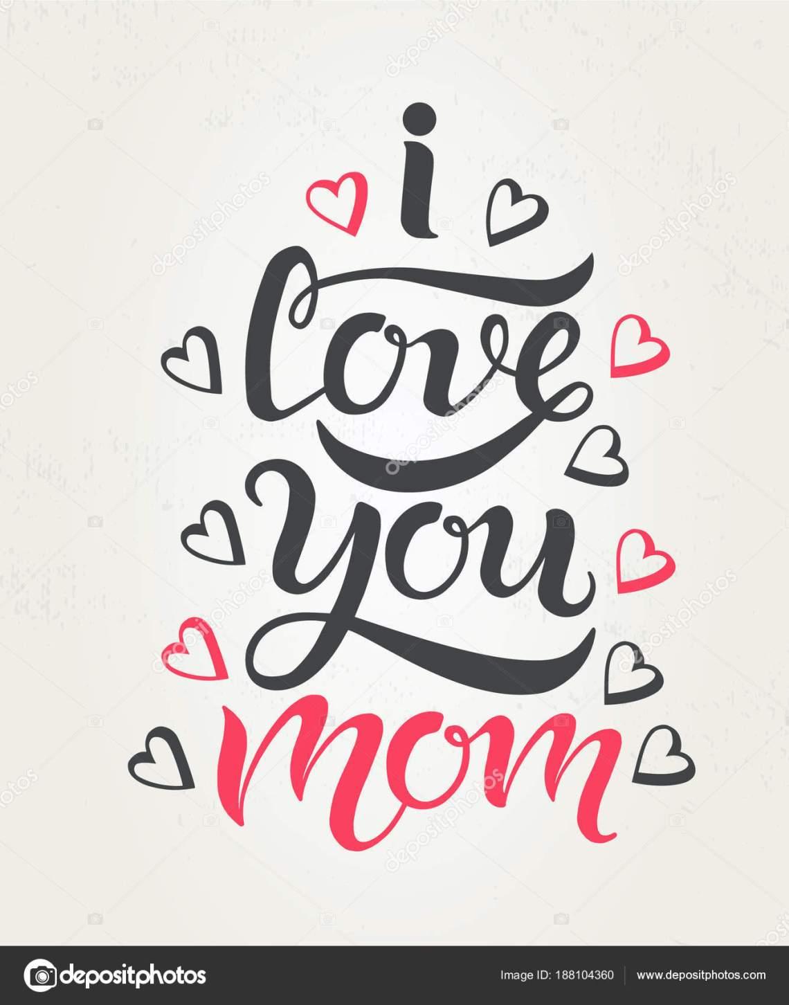 Download I love you Mom — Stock Vector © illustraterita #188104360