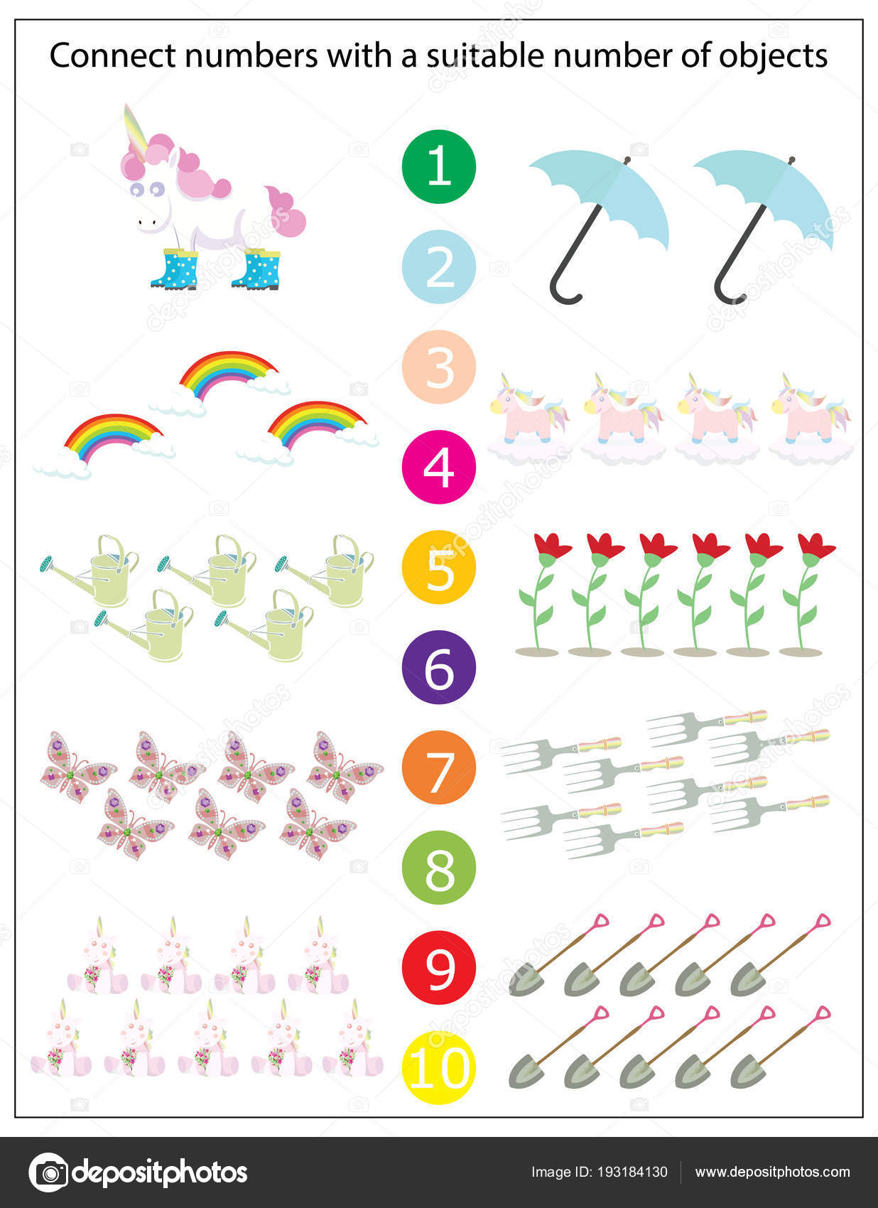 Space Math Worksheet For Preschool