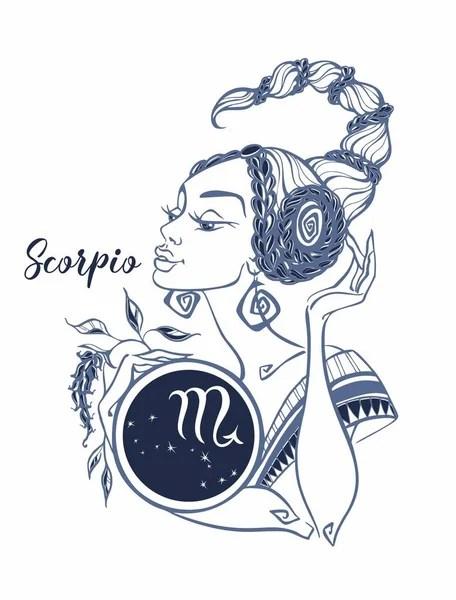 Знак Зодиака Скорпион Красивая Девушка Гороскоп Астрология