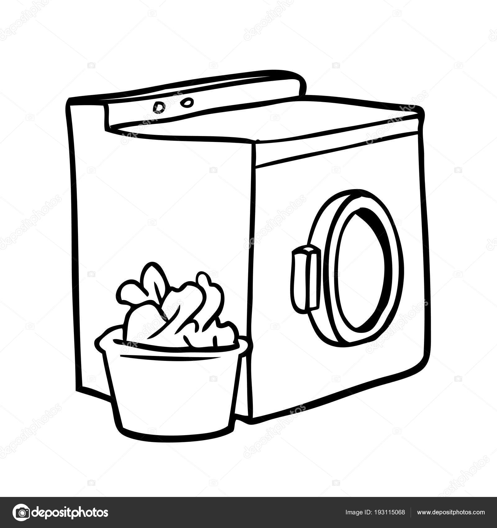 Line Drawing Washing Machine Laundry