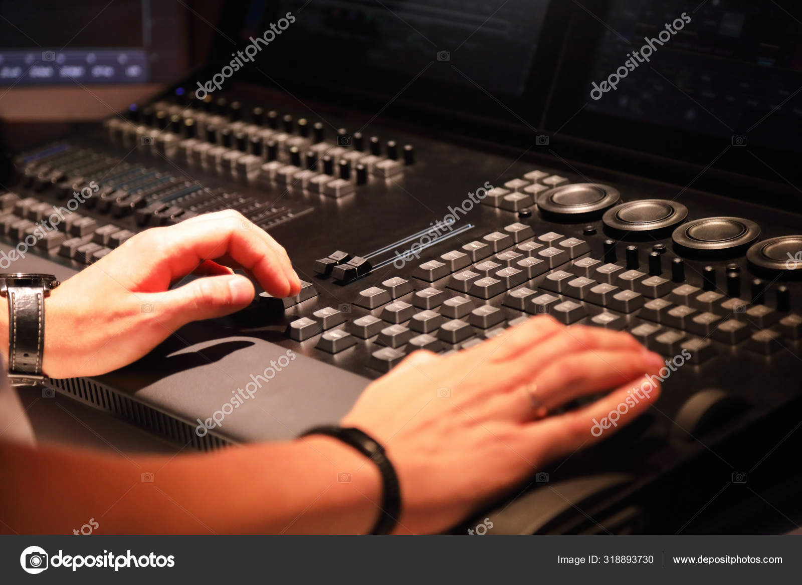 https depositphotos com 318893730 stock photo working with stage lighting control html
