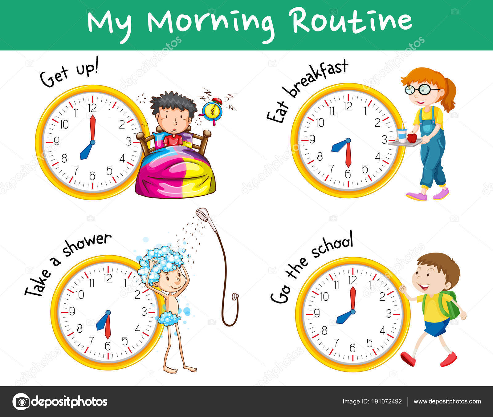 Morning Routines With Clocks And Children