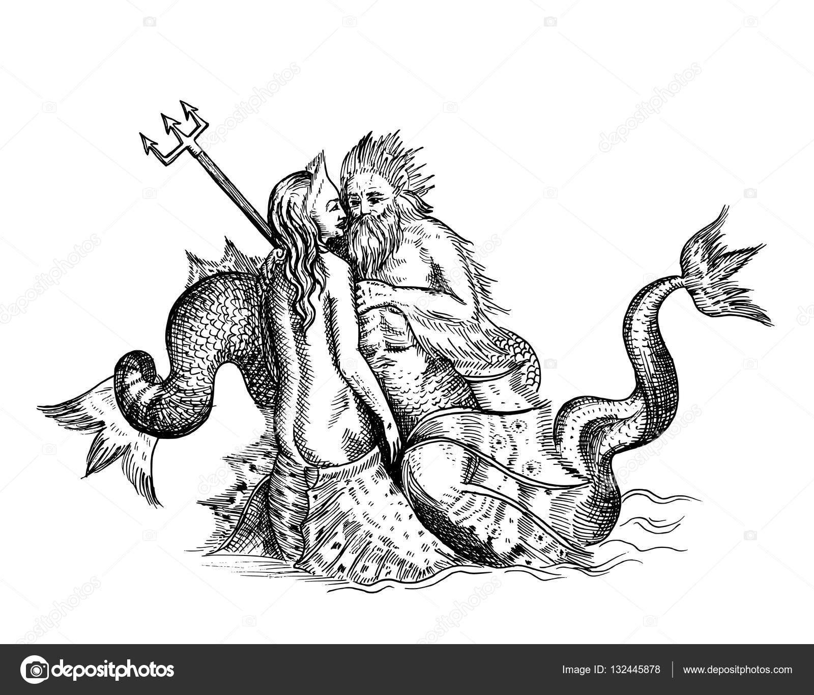 Mermaid And Neptune