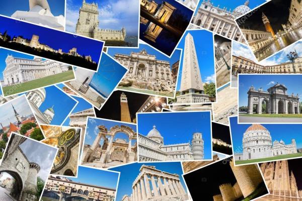 Коллаж мои путешествия | Коллаж город. Коллаж из моих ...