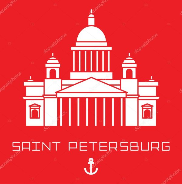 Исаакиевский собор в Санкт-Петербурге Россия. Современный ...