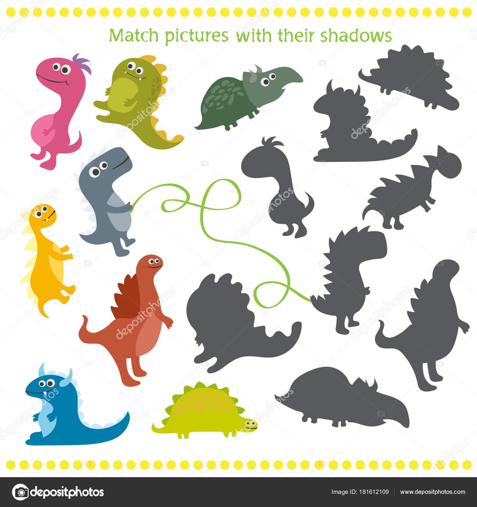 Cie Pasuj Ce Gry Z Dinozaurow Kreskowka Dla Dzieci
