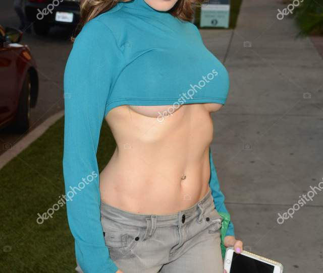 Erika Jordan At The Street Stock Photo