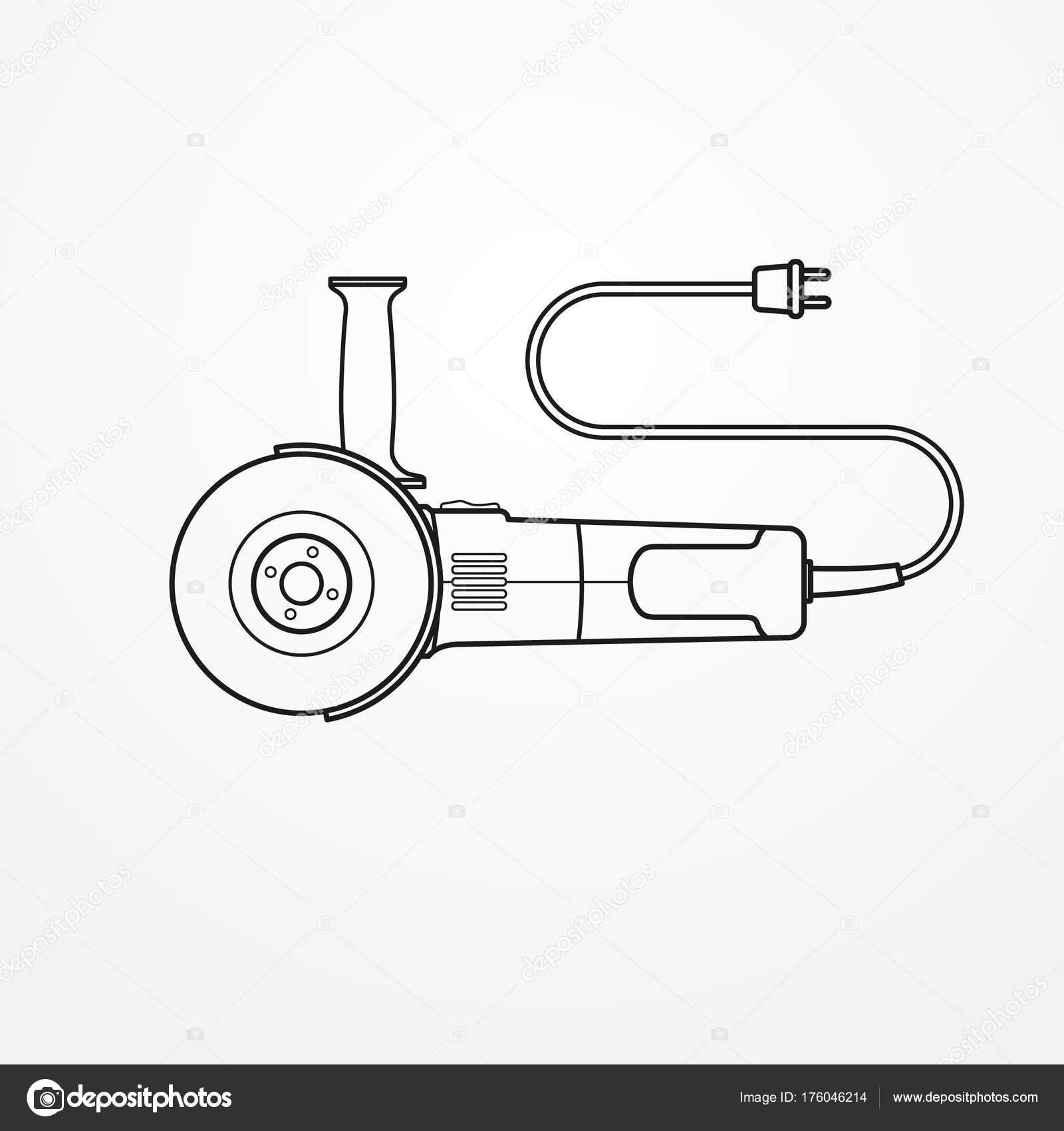Electric Angle Grinder Vector Image