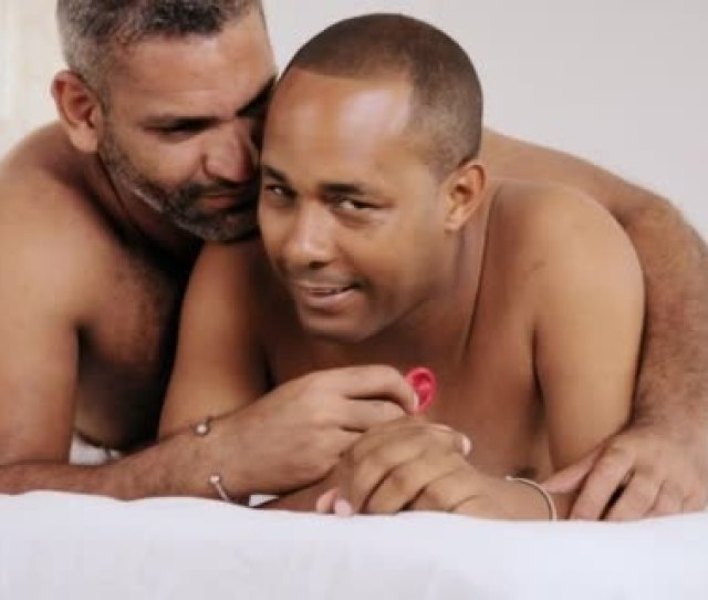 Gay Couple Homosexual Couple Men Showing Condom For Safe Sex Stock Video