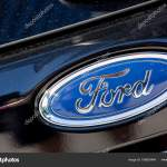 Ford Logo On Black Car Stock Editorial Photo C Pixinooo 186835464