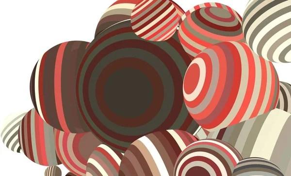 Абстрактный Фон Трехмерная Иллюстрация Разноцветными ...