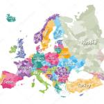 Colored Political Map Of Europe With Countries Regions Vector Illustration Premium Vector In Adobe Illustrator Ai Ai Format Encapsulated Postscript Eps Eps Format