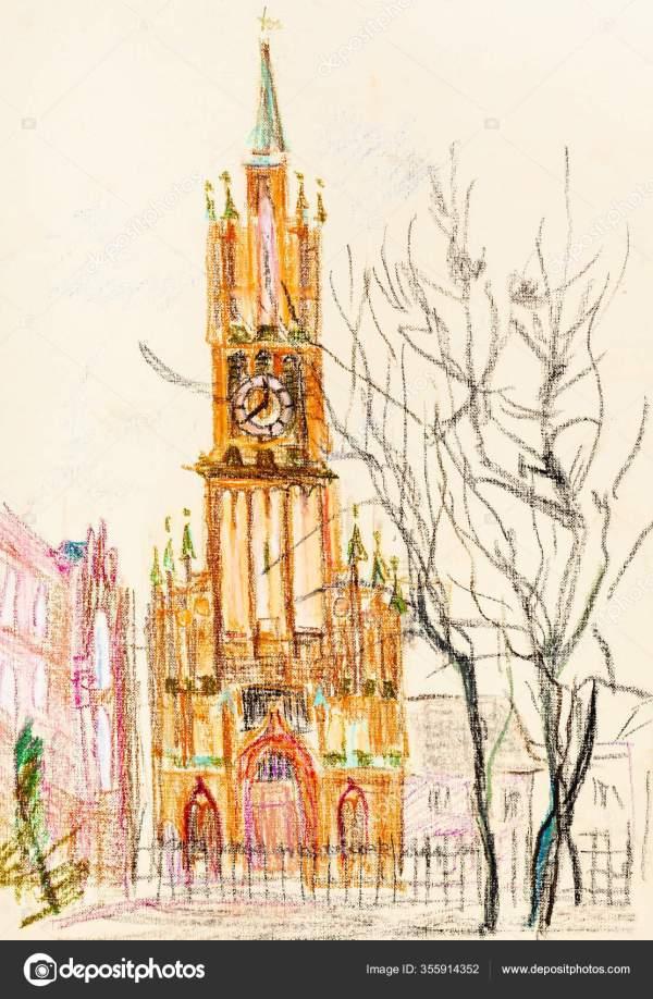 Высокая Немецкая Церковь Калининграде — Стоковое фото ...