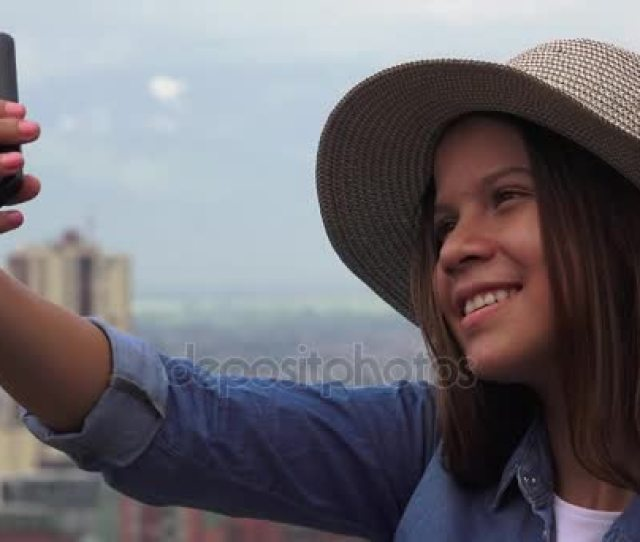 Similar Royalty Free Videos Teen Girl Making Selfie