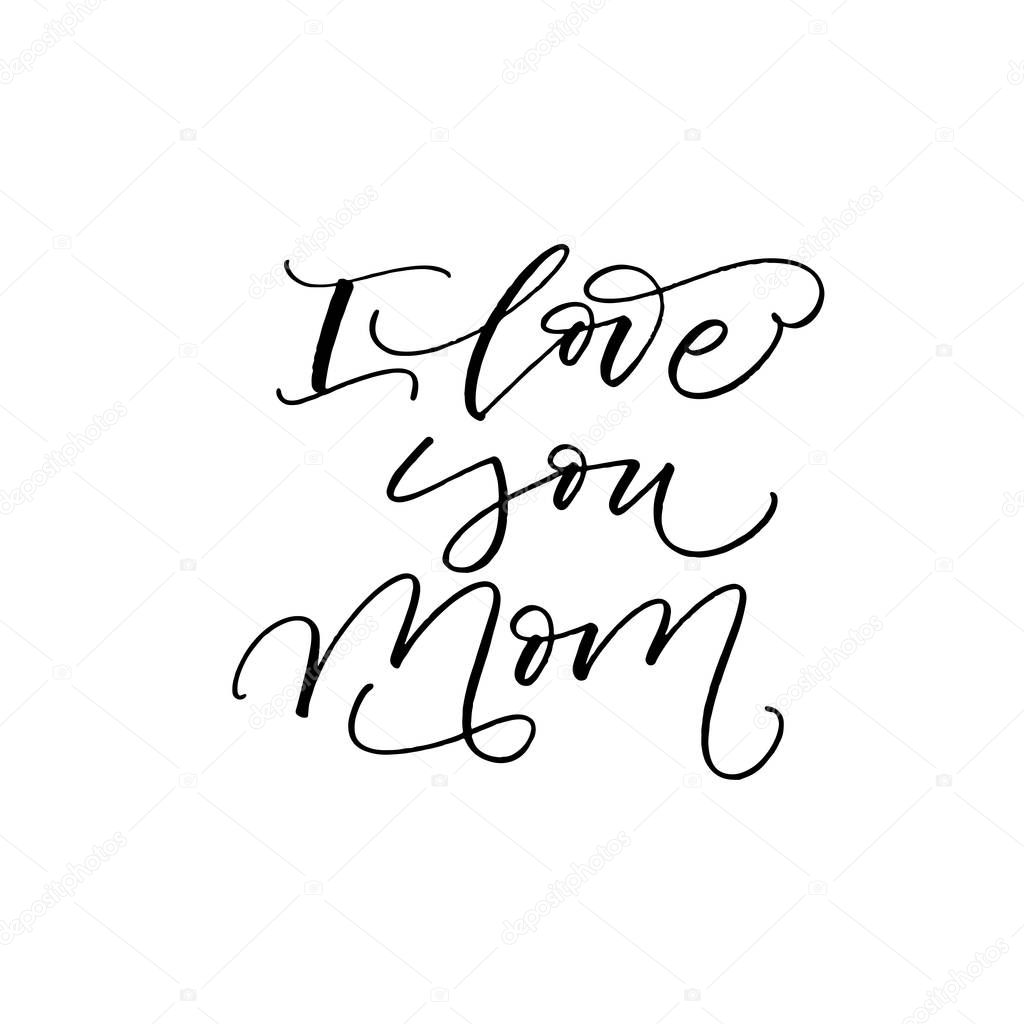 Download Imágenes: letras bonitas cursiva | Te amo postal de mamá ...