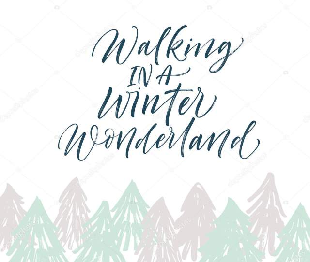 Walking In Winter Wonderland Stock Vector