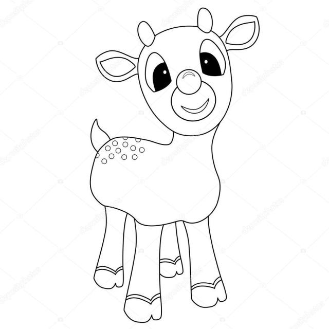 Rudolph Coloring Page Stock Photo by ©smk28 28