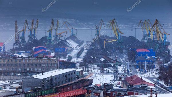 Панорамный Вид Порт Мурманск Россия — Стоковое фото ...