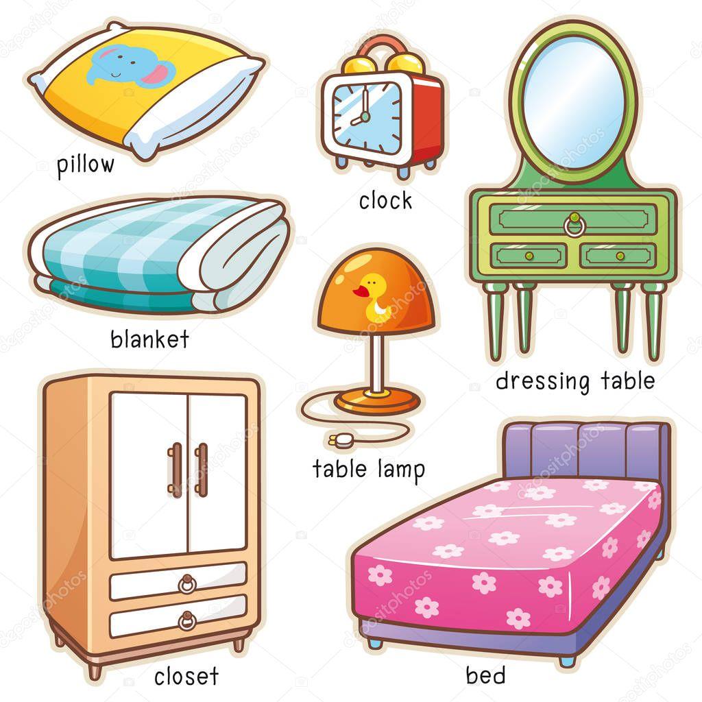 Objetos De Dormitorio Animados
