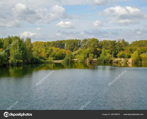 Поездка России Озеро Внутри Парка Юрия Гагарина ...