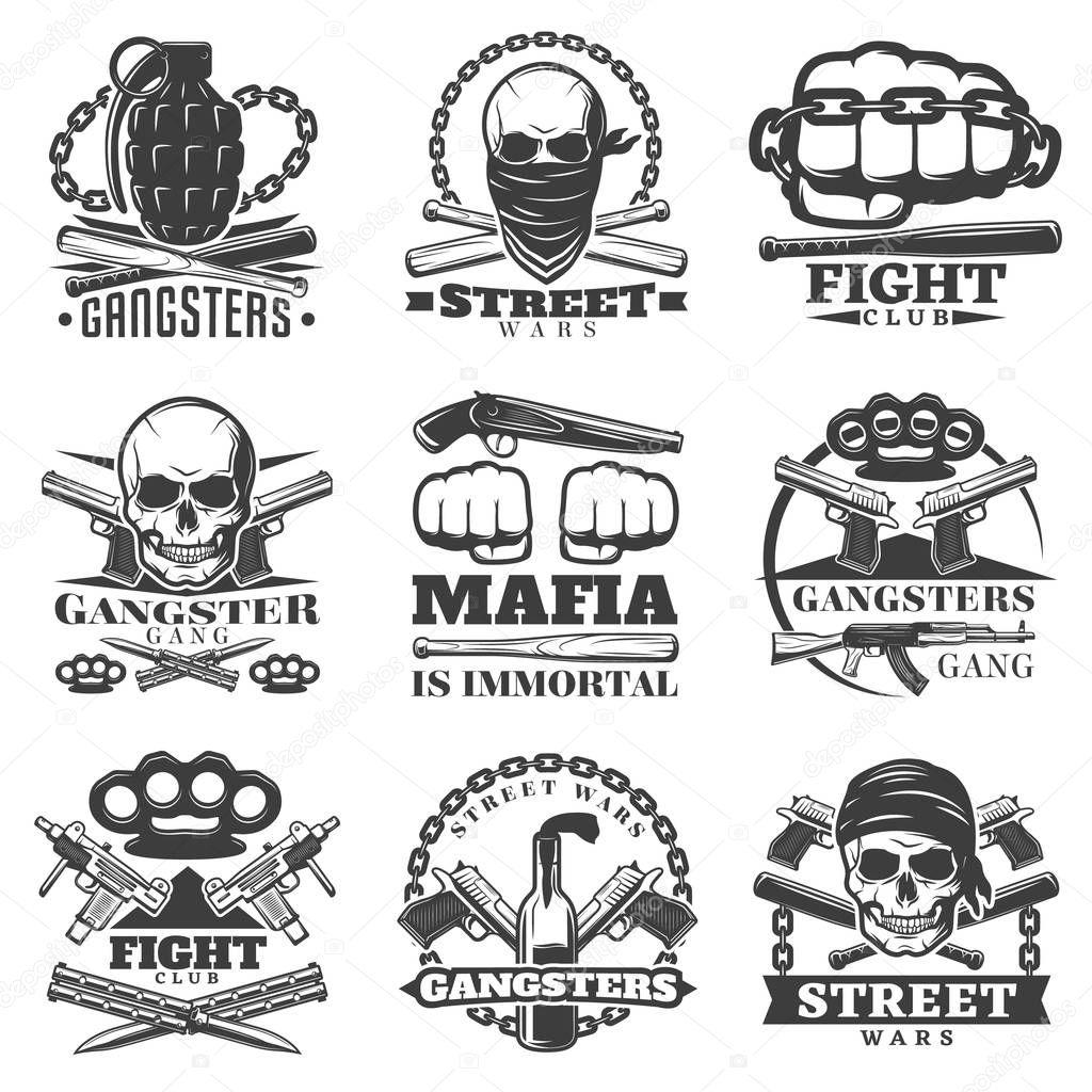 Street Wars Gangster Emblem Set