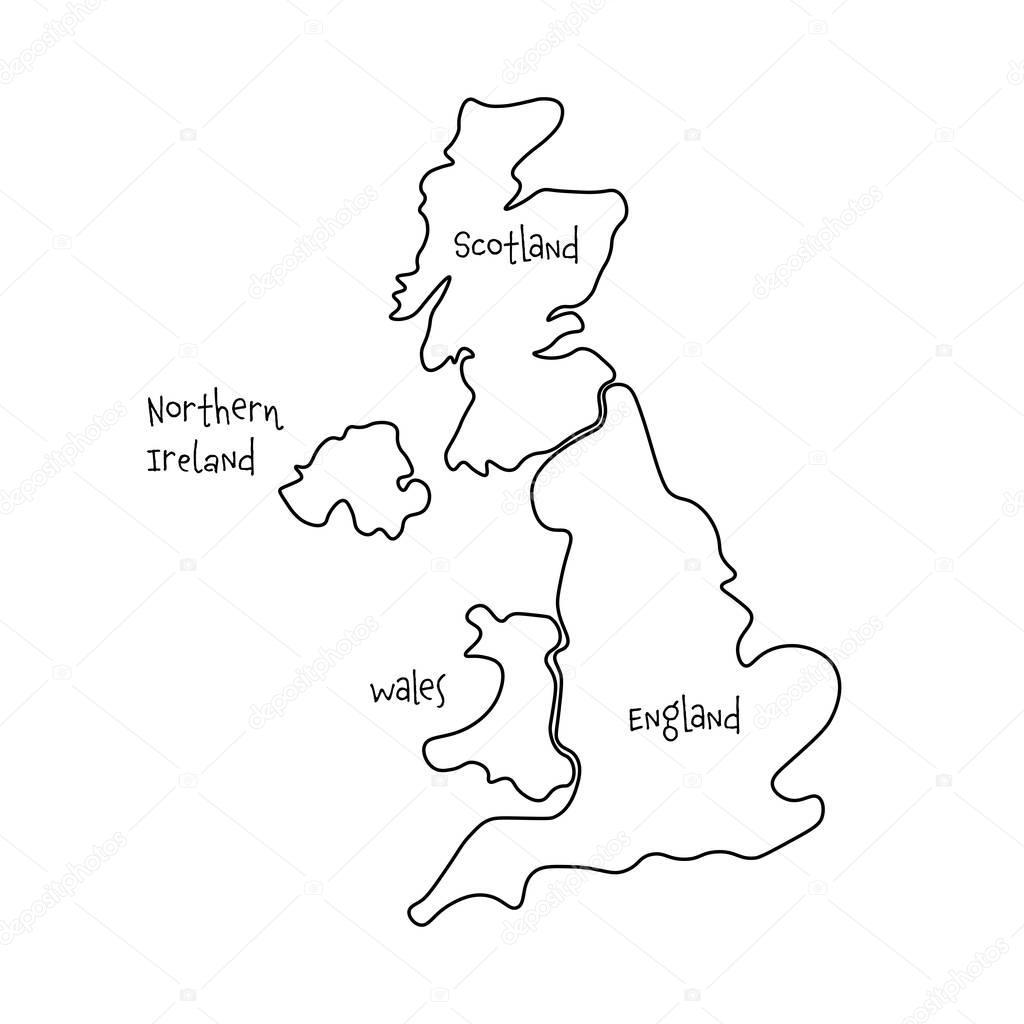 Uk Map Blank