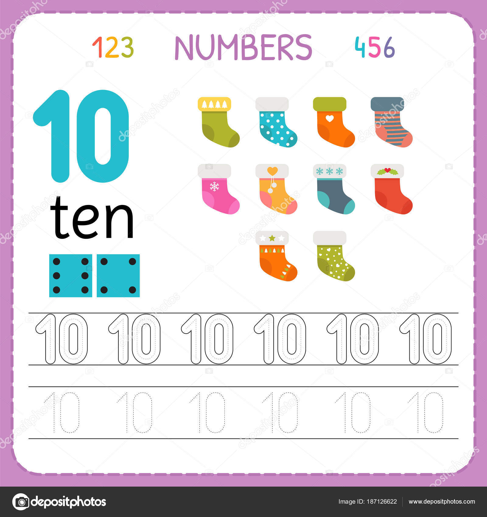 Nmeros Del 1 Al 10 Is Nombres Flashcards For Kids Math Et