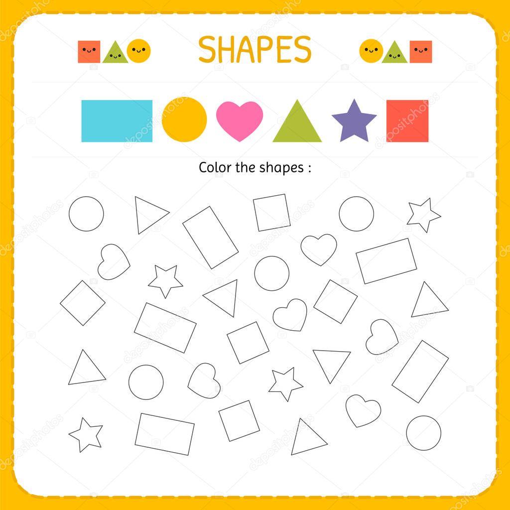Farben Mehrere Shapes Formen Und Geometrischen Figuren Zu