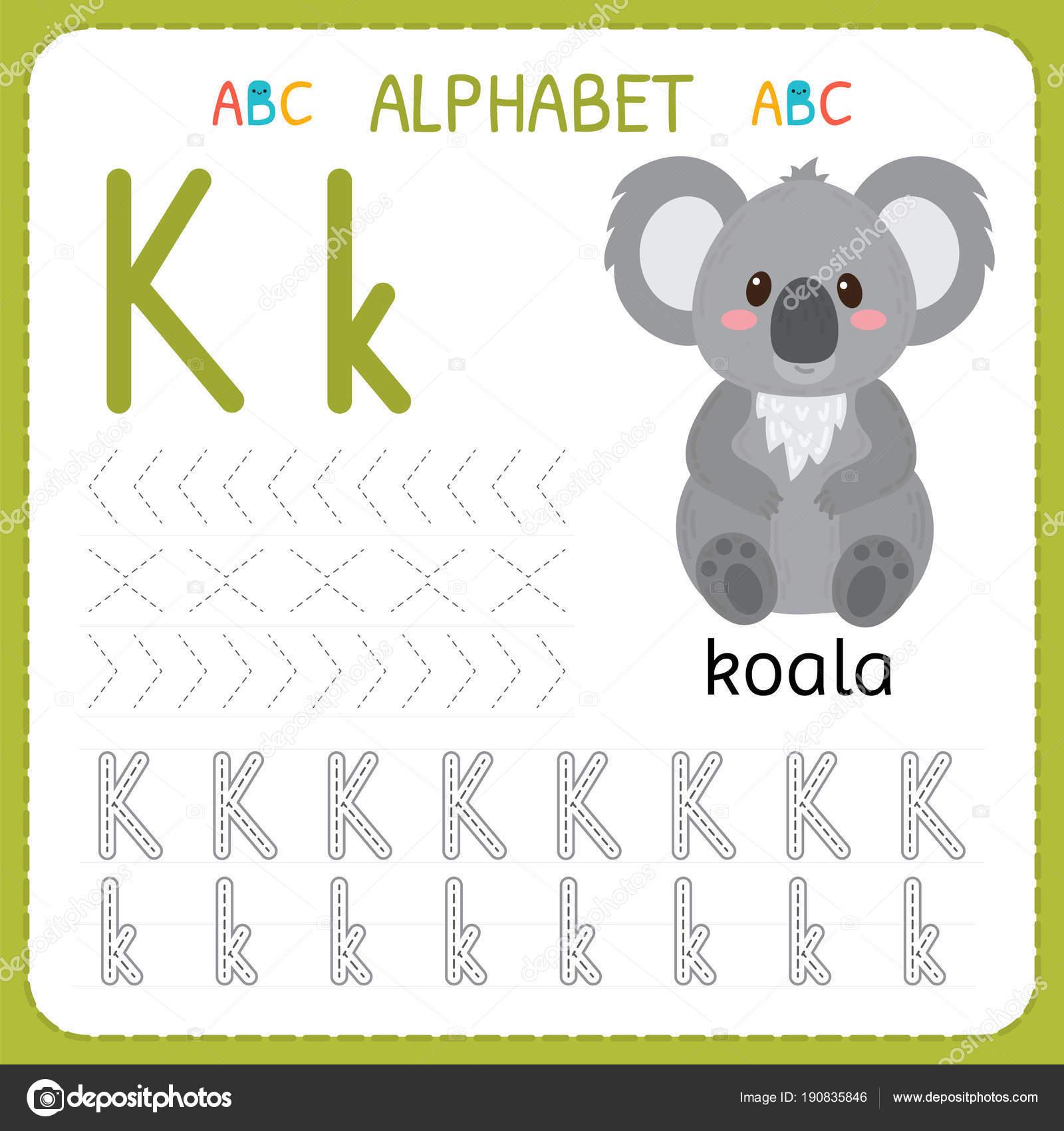 Hoja De Trabajo De Seguimiento Alfabeto Para Preescolar Y