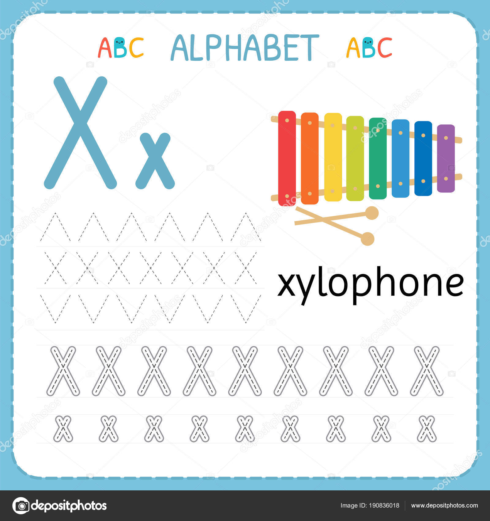 New Letter X Pictures For Kindergarten