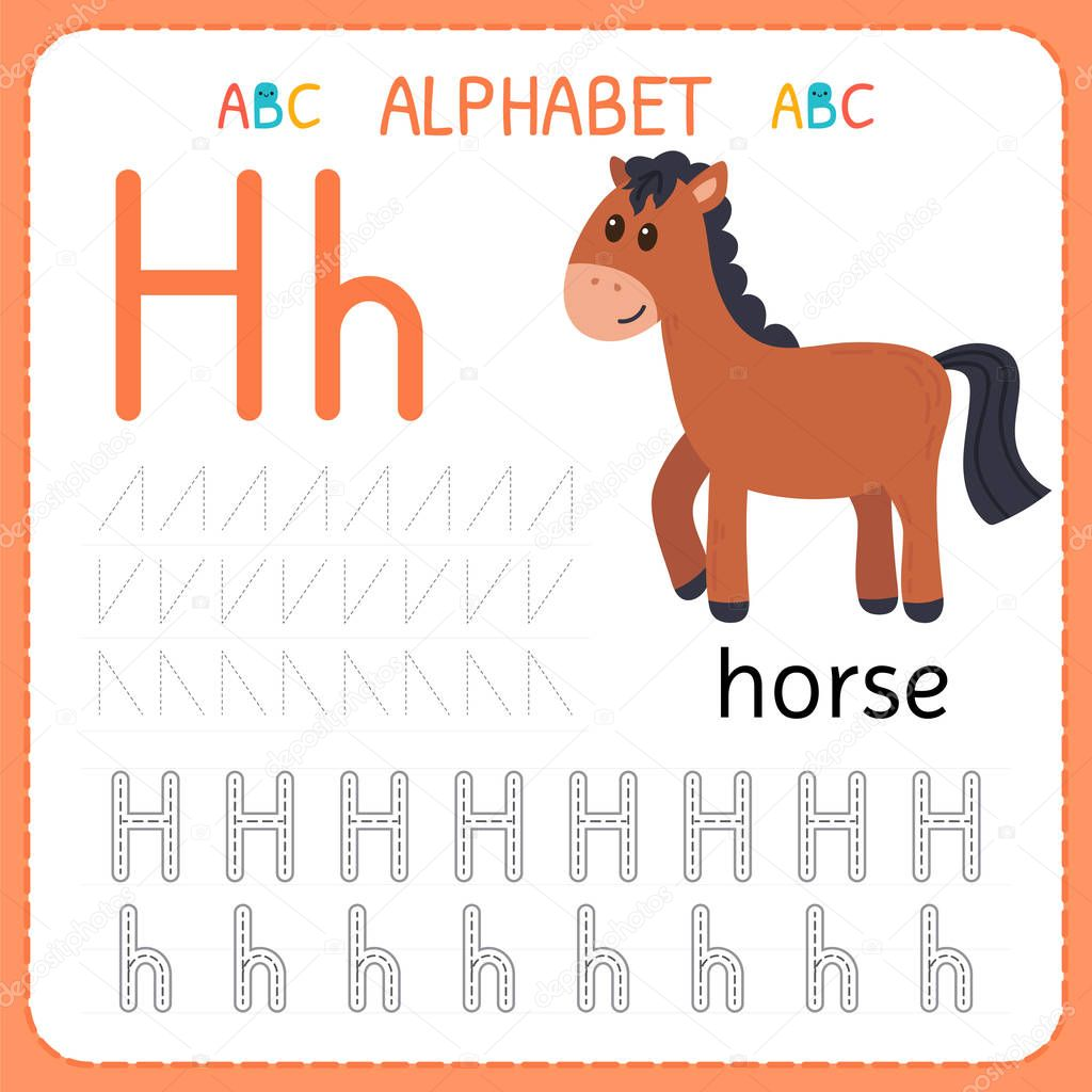 Letter H Tracing