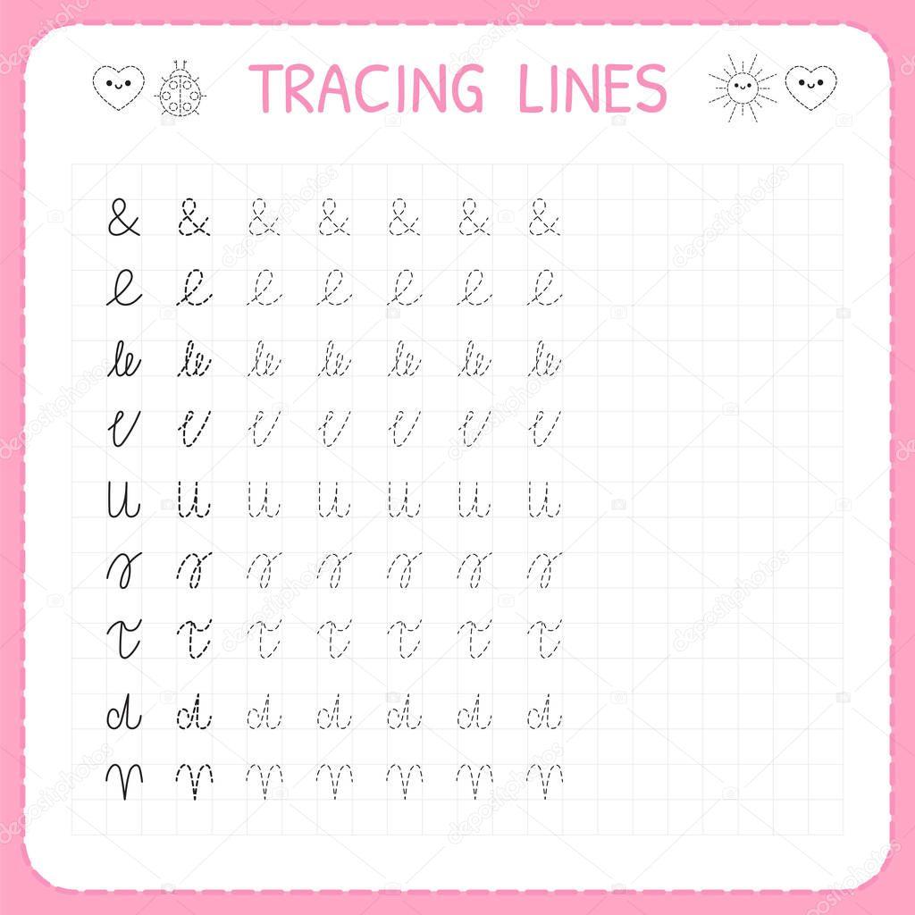 Ablaufverfolgung Linien Grundlegende Schreiben
