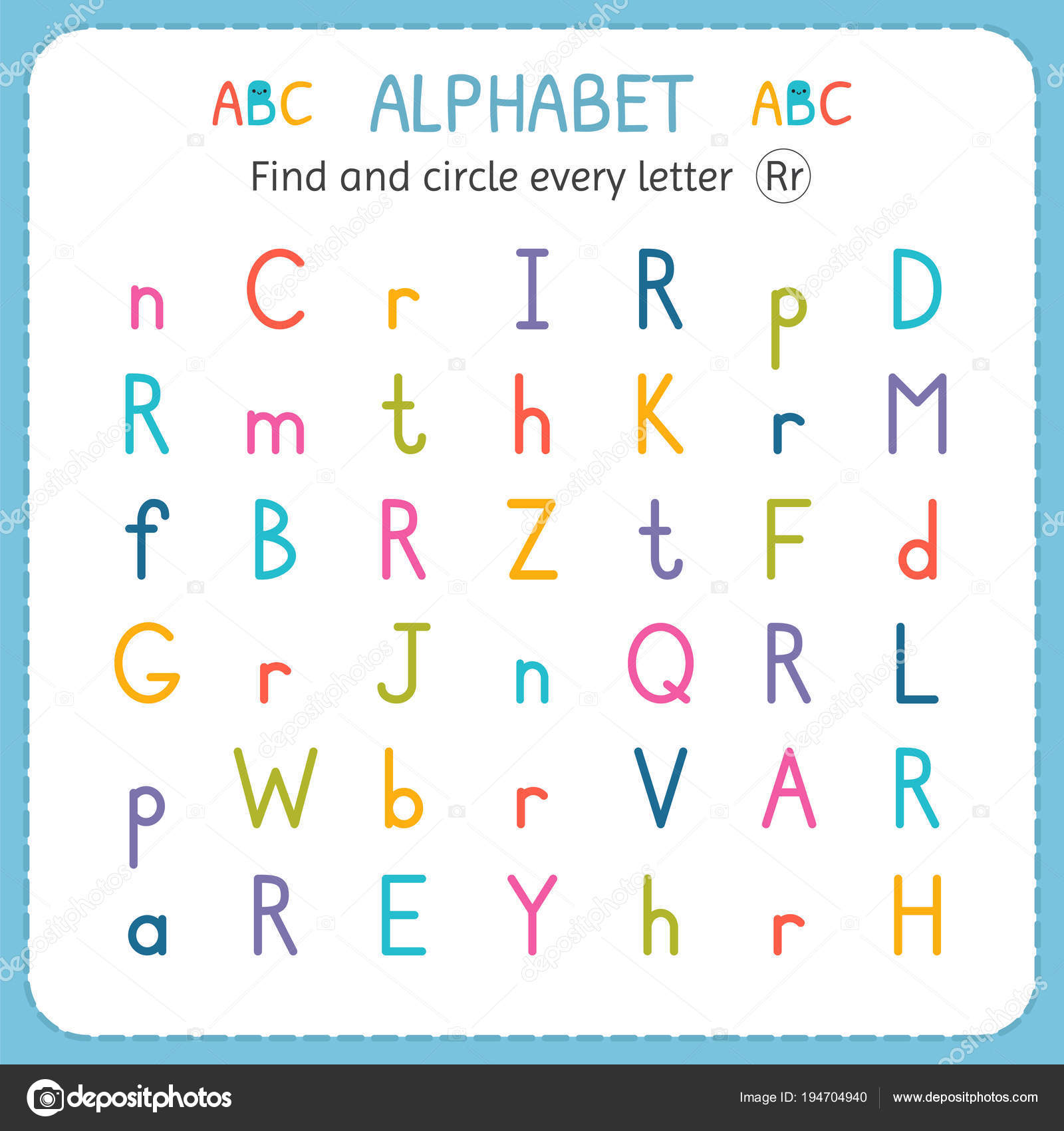 Pictures Letter R For Kindergarten
