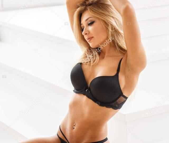 Beautiful Sexy Girl In Dessous Stockbild