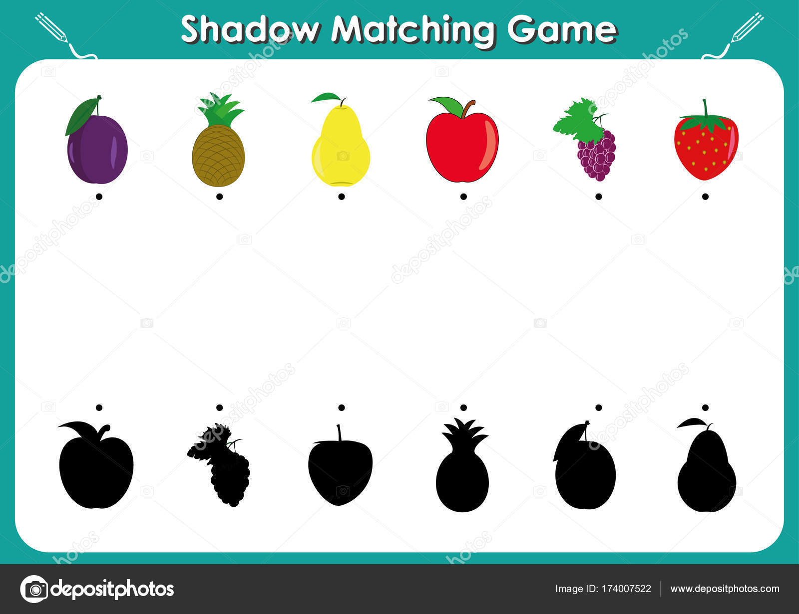 Shadow Matching Worksheets For Preschool