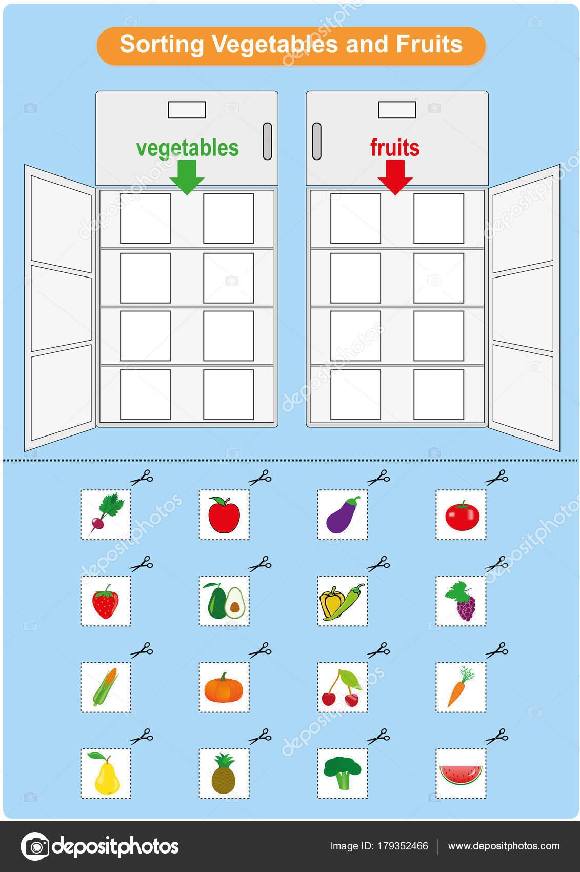 Tri Des Fruits Et Legumes Dans Le Refrigerateur Feuille