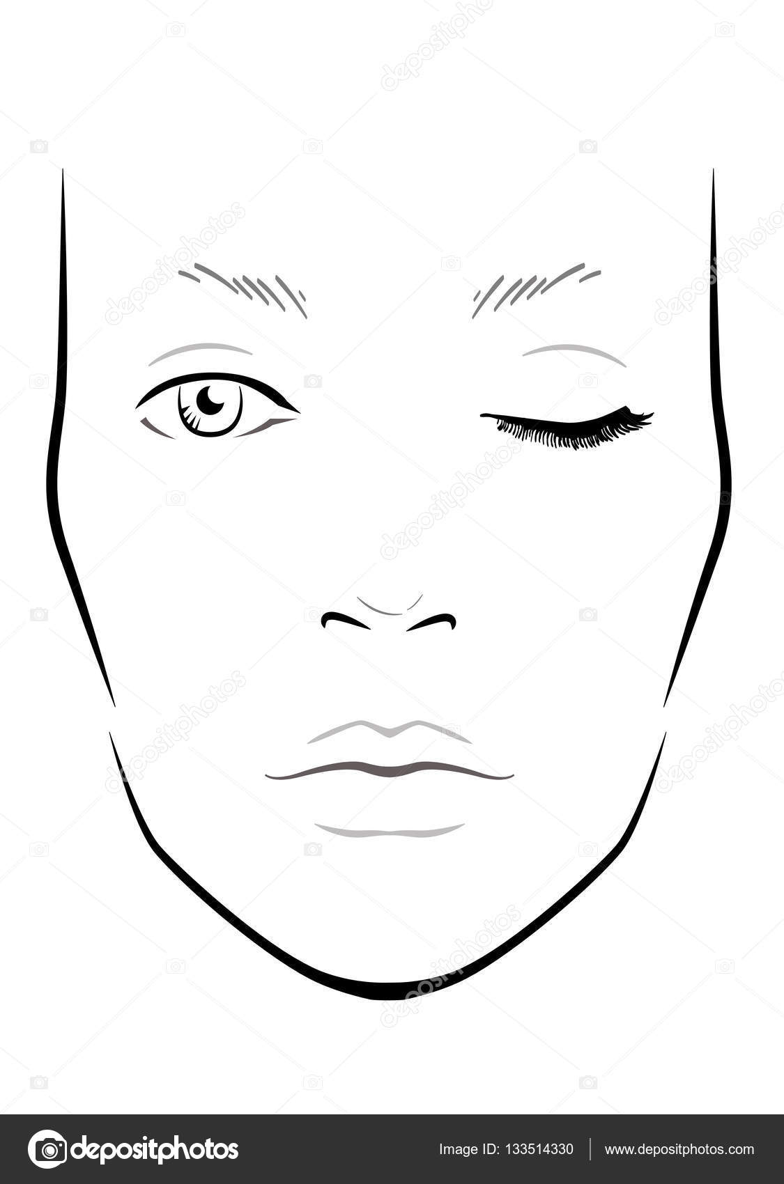 picture relating to Printable Face Charts known as Printable Confront Charts For Make-up Artists