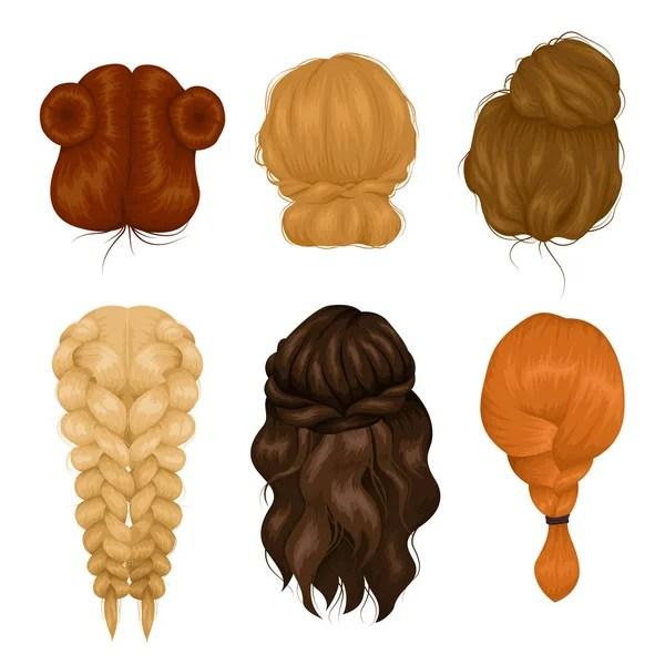 ᐈ Рисунок прически коса рисунки, векторные картинки коса ...