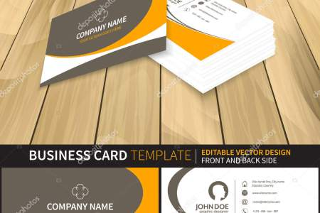 Creative business card mock up template  Vector illustration with     Creative business card mock up template  Vector illustration with front and  back side  Preview from perspective      Vector by ftotti