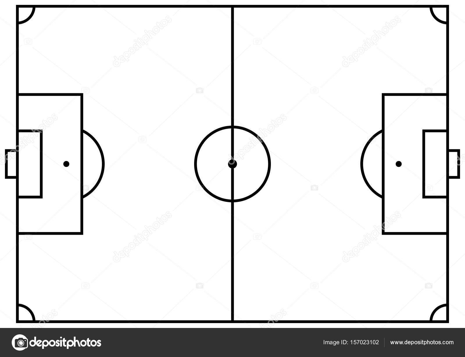 Vector Del Campo Del Futbol