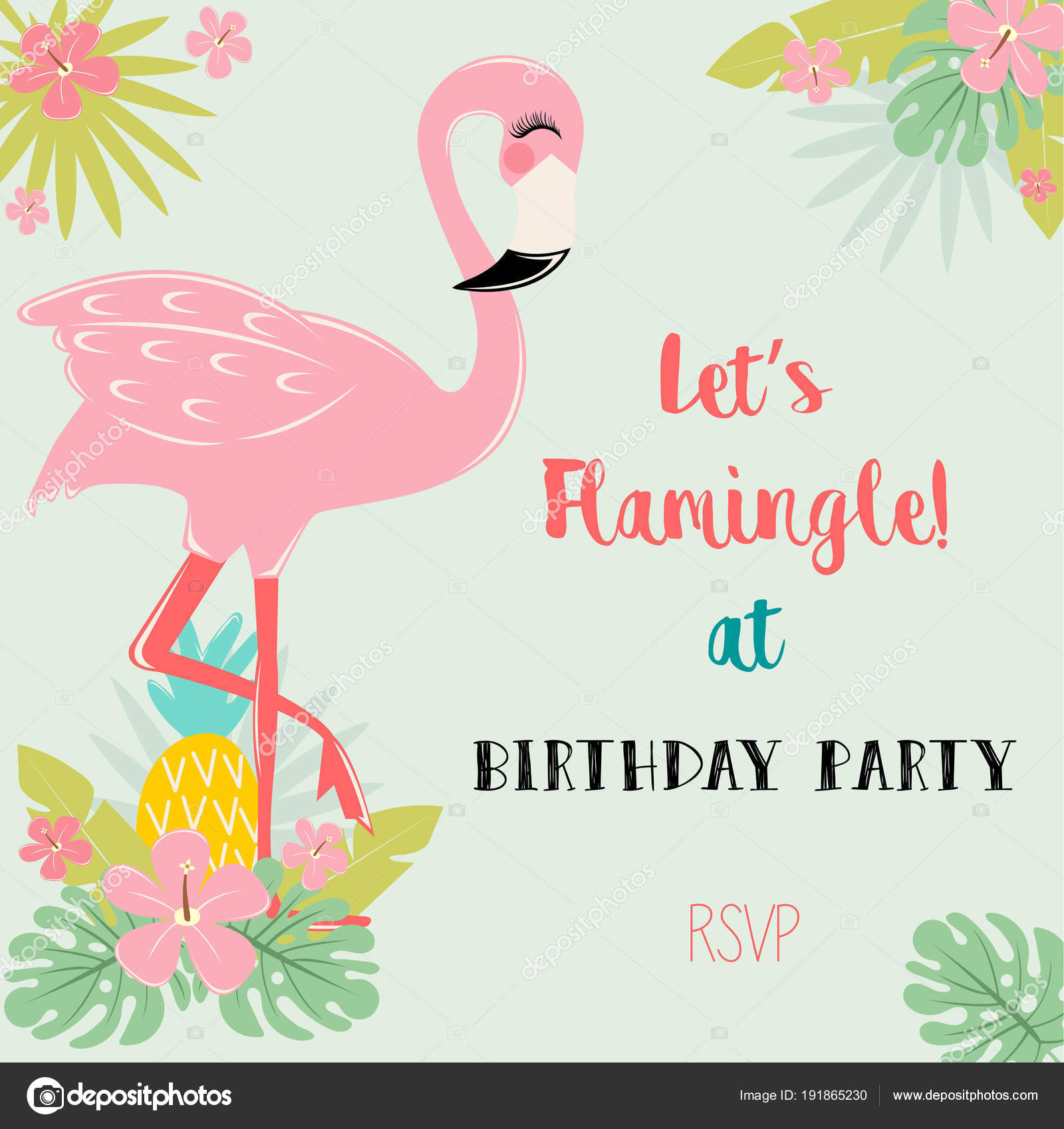 https depositphotos com 191865230 stock illustration flamingo birthday party invitation card html
