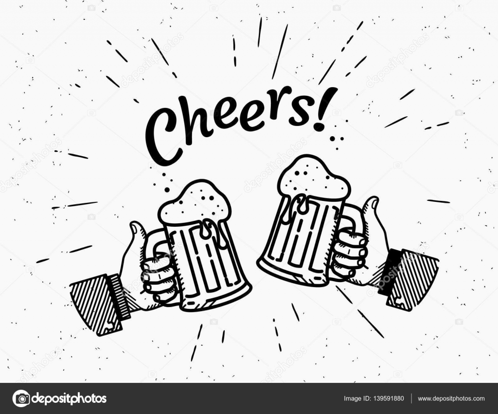Thumbs Up Symbol Icon With Beer Bottle