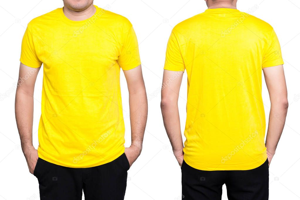 T Shirt Homem Amarelo Fotografias De Stock 2p2play26 150287578