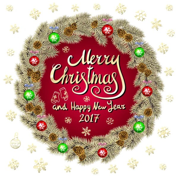 Merry Christmas 2019 Happy New Year Red Background Golden