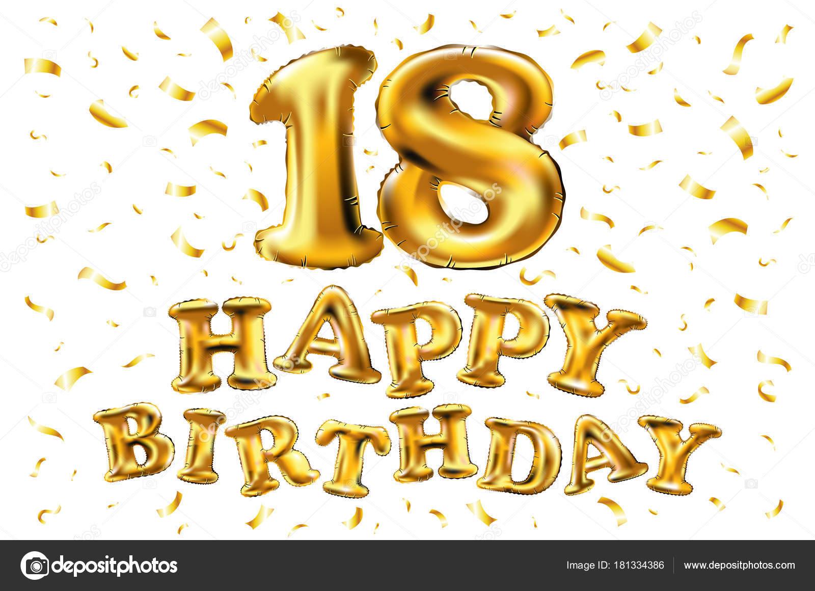 https depositphotos com 181334386 stock illustration 18th birthday celebration with gold html