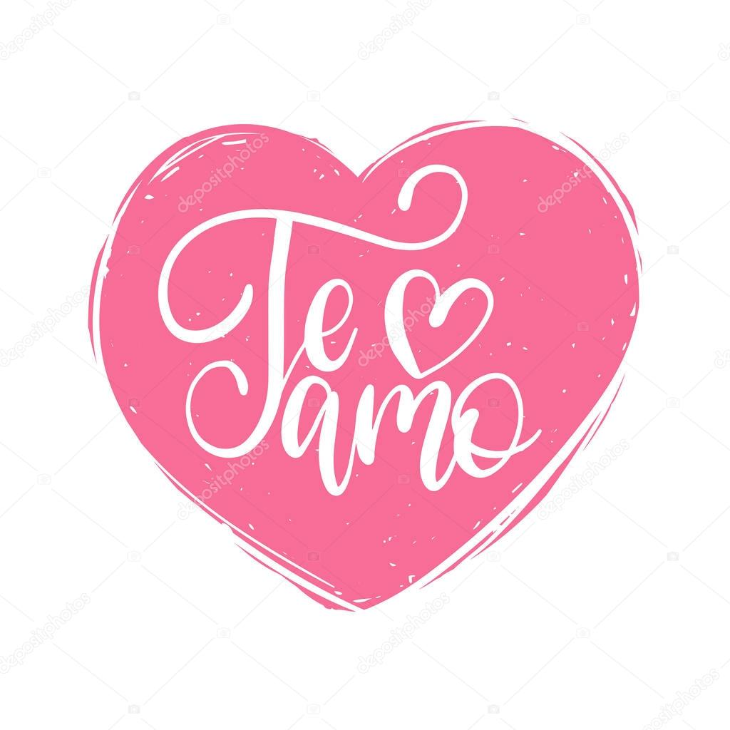 Download Te amo hand lettering | Te amo hand lettering — Stock ...