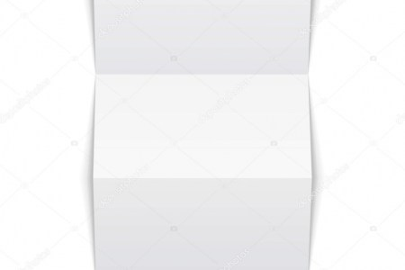 Blank Trifold Paper Leaflet On White Background Isolated  Mock Up     Blank Trifold Paper Leaflet On White Background Isolated  Mock Up Template  Ready For Your Design