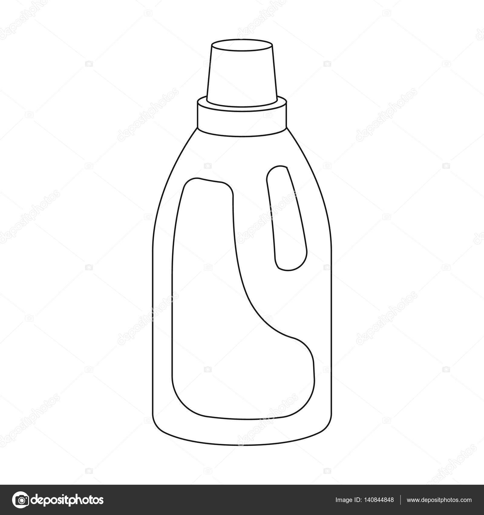 Icone De Detergent De Blanchisserie Dans Le Style De