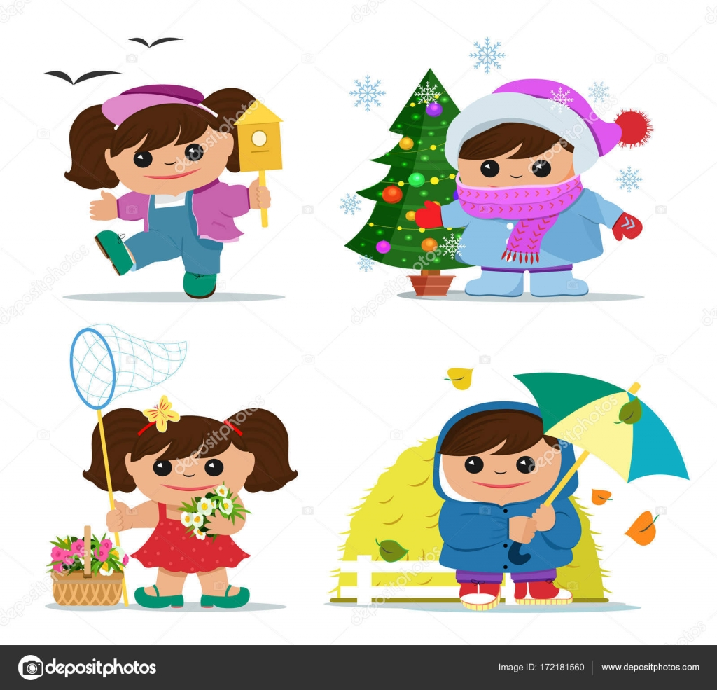 Summer And Winter Clothes Printable Summer And Winter